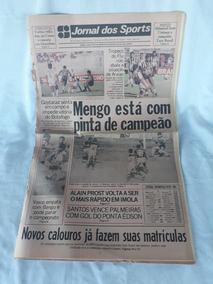 Jornal Dos Sports Flamengo Goytacaz Botafogo 21 De Março De