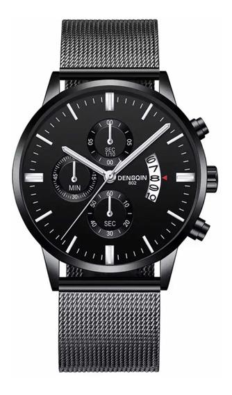 Relógio Preto Suíço