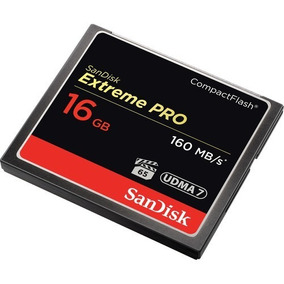 Compact Flash Sandisk Extreme Pro 16gb 160mb/s 1067x + Nfe