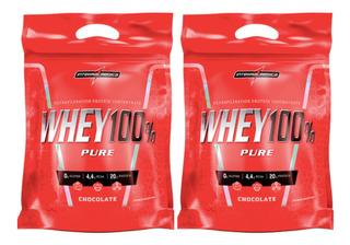 2x 100% Whey Protein Refil 907g Integral Medica -