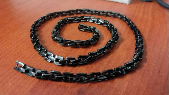 Cadena Acero Inox Acabado Negro Pavonado - 60 Cm