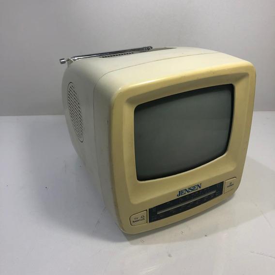Mini Televisor Radio Jensen J53-bwr Com Am/fm Raridade Retro