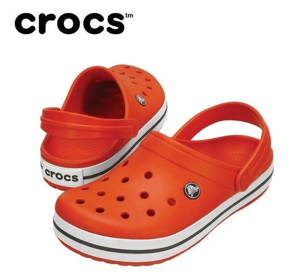 Crocs Original Crocband Tangerine White Relaxed Yy