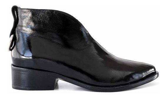 Bota Cuero Mujer Briganti Zapato Taco Suela - Mcbo24931 Ch