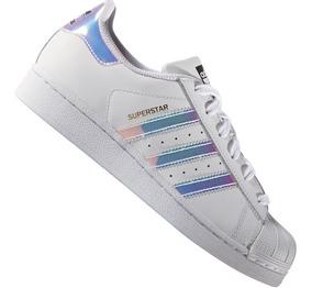 Zapatillas adidas Superstar Bco Tornasolada Dama Original !!