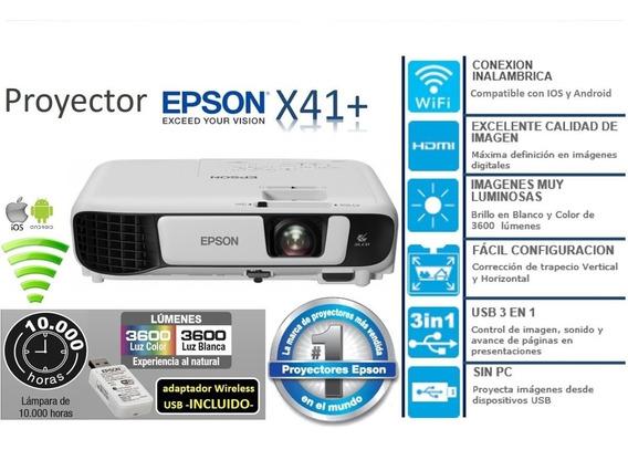 Proyector Epson X41+xga 3600 Lumens Hdmi Wifi (660 Trumps)