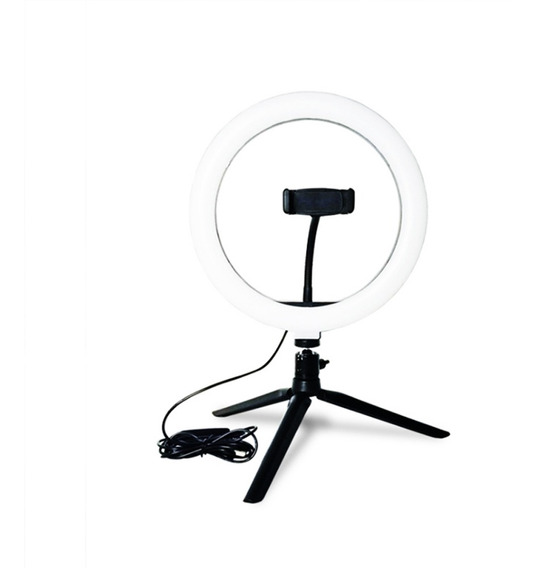 Led Ring Light Studio Photo Video Dimmable Lâmpada TriPod S