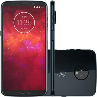 Motorola Moto Z3 Play Xt1929 64/4gb Dual 12mp Azul Vitrine 2
