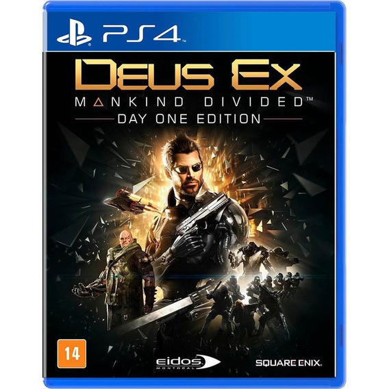 Deus Ex Mankind Divided Ps4 Day One Edition Novo Lacrado