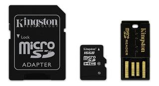Micro Sd 16gb Kit Adaptador Sd Usb Kingston Mbly10g2/16gb