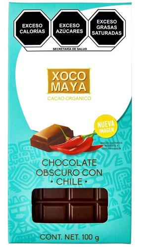 Imagen 1 de 6 de Barra De Chocolate Oscuro Con Chile Xoco Maya