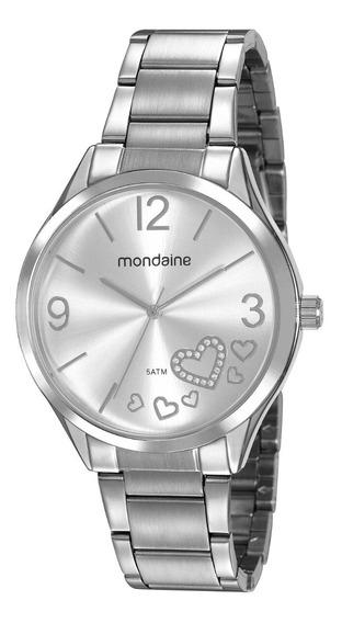 Relógio Mondaine Feminino Analógico Prata Original Barato