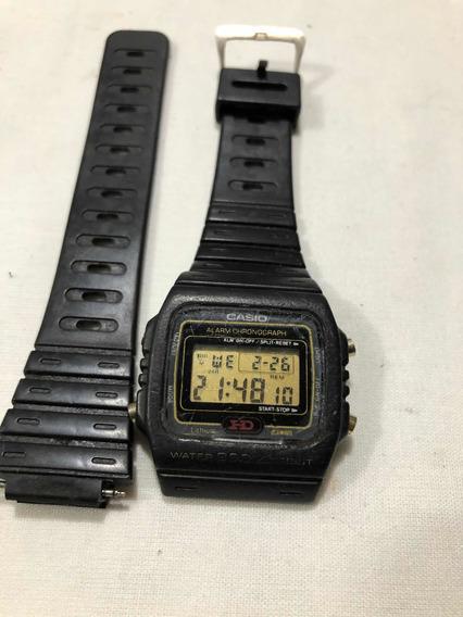 Relógio Casio Dw-270 Hd Caixa Com Problema Na Garra Do Pino