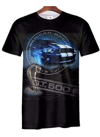 Remera Ford Mustang Gt 500 Ranwey Car032 Talle S