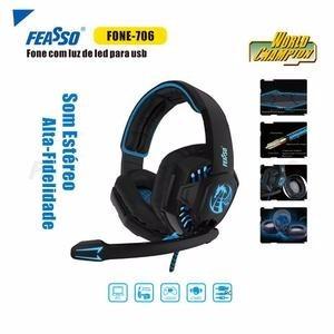 Fone De Ouvido Fone-706 Gamer Com Led Feasso