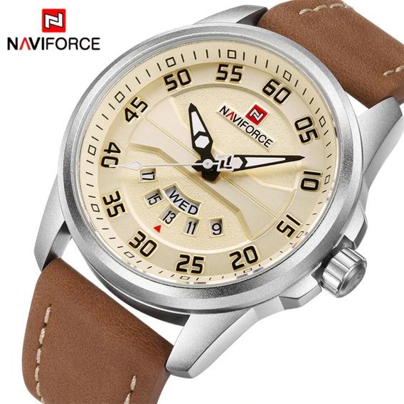 Relógio Naviforce 9124 Original Analógico Militar Promoção