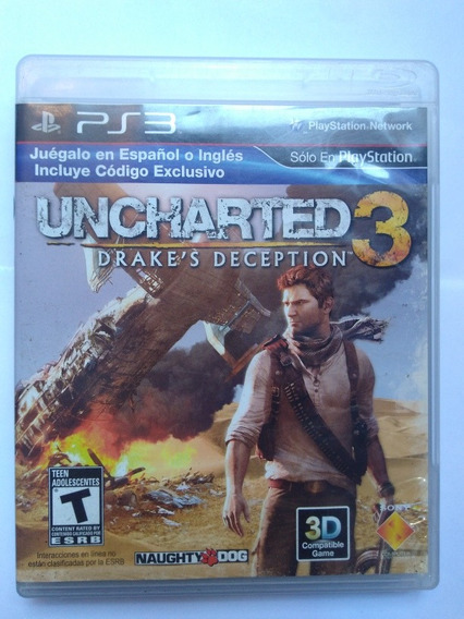 Jogo Uncharted 3 Completo Midia Fisica Ps3 R$45