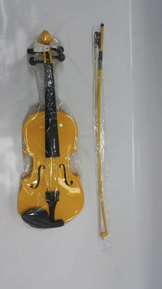 Violin 3/4 Thunder Nuevo Sellado Estuche Amarillo