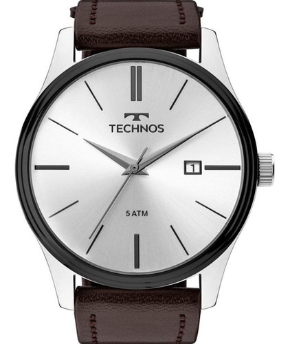 Imagem 1 de 4 de Relógio De Pulso Masculino Technos Couro
