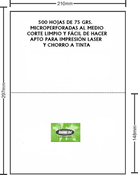 4 Formulario Husares 7844 Microperforado Al Medio 500 Hojas