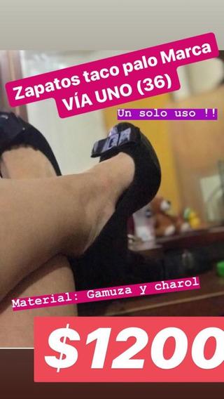 Zapatos Taco Palo Via Uno