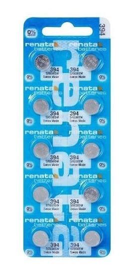 10 Pilhas Baterias 394, Relógio 1.55v Renata Sr936s Original