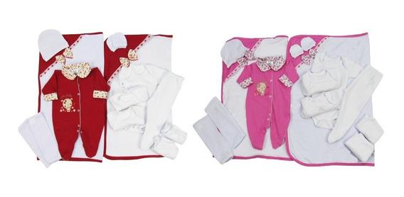 Kit Bebê Com 13 Peças Saída De Maternidade Enxoval Menina