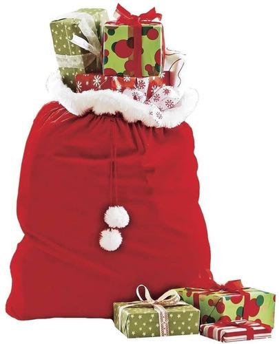 Imagen 1 de 6 de Costal De Santa Claus De Lujo P/ Regalos. Navidad
