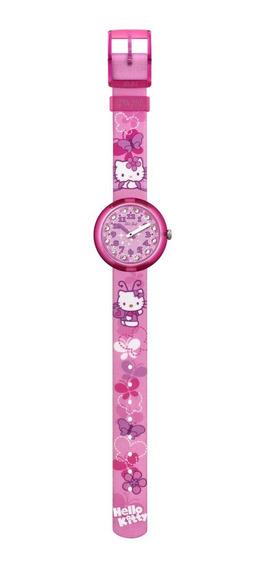 Reloj Hello Kitty Butterfly Rosado Flik Flak
