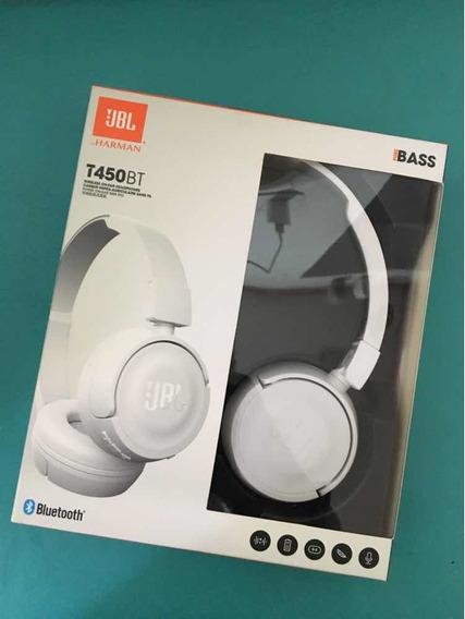 Fone Jbl T450bt Branco Usado - Bluetooth