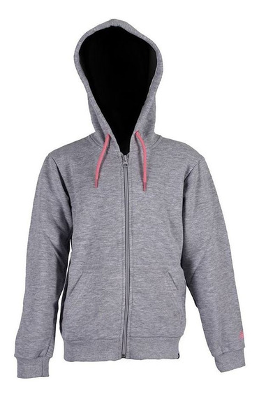 Campera New Balance Essentials Full Zip Gr/rs Niña Rcmd