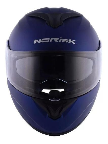 Capacete para moto escamoteável Norisk Force Monocolor matt blue tamanho 62