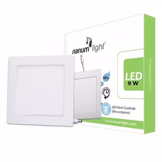 Lámpara Led Panel Cuadrado Para Empotrar 9w 6500k Nanumlight
