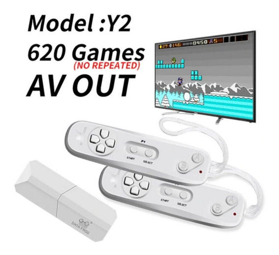 Mini Video Game Retro Sem Fio 8 Bits 620 Jogos Usb Tv Pc Mac