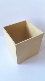 Cajas De Mdf 10x10x10 Sin Tapa, En Color Natural