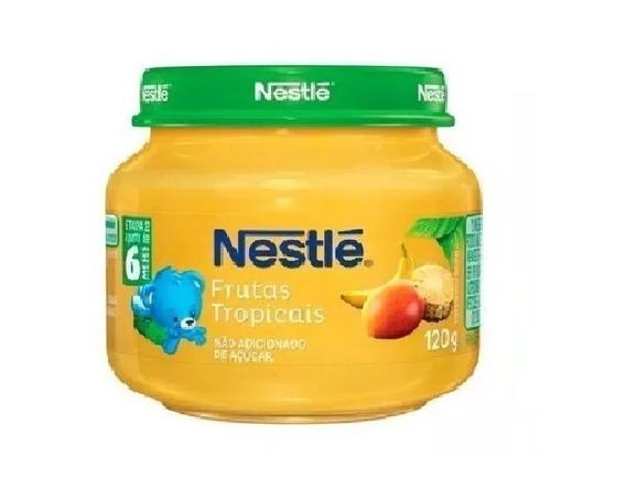 Papinha Nestlé Sobremesa Frutas Tropicais 18 Potes Atacado