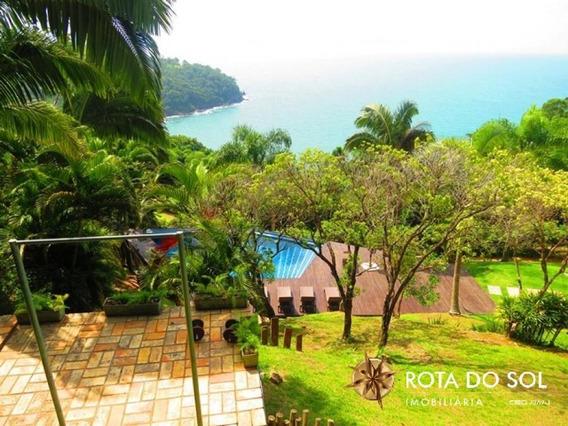 Linda Casa No Bairro Do Araça Com Vista Para A Praia Do Estaleiro - C6979