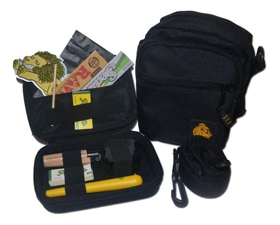 Kit One Máximo Shoulder Bag + Isqueiro Raw + Seda + Piteira