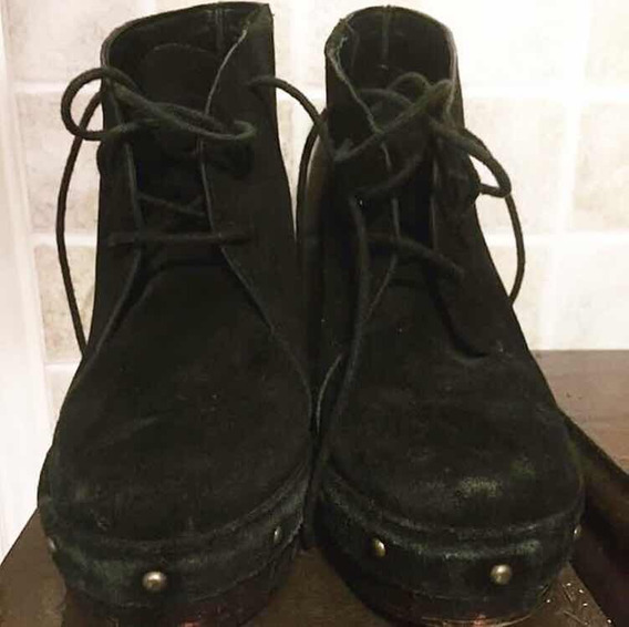 Zapatos Talle 37 De Gamuza Muy Buen Estado! Liquido Ya!!