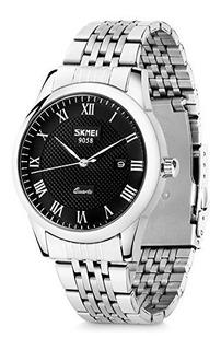 Reloj Aposon Para Hombre Ap-9058cs-s Tablero Negro Color