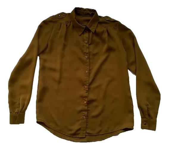 Camisa Mostaza Talle 40