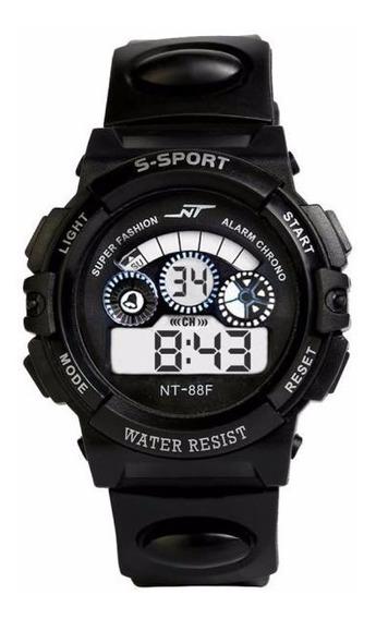 Relógio Masculino Digital Preto Na Caixa Para Presente