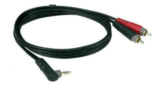 Klotz Ay7a0200 Cable Mini Plug Angular 3.5mm A 2 Rca 2 Mt