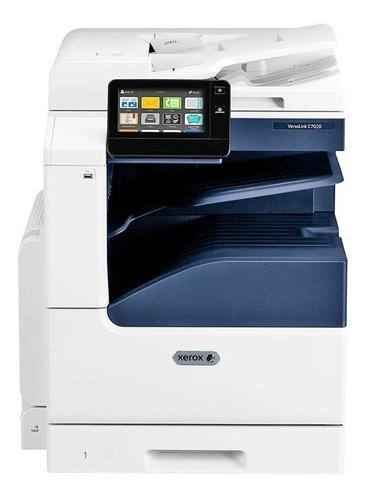 Impressora a cor multifuncional Xerox VersaLink C7020 com wifi 110V - 127V branca e azul