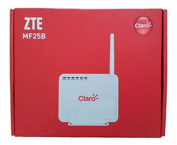 Modem Zte Mf25b 3g Wifi Claro Nf Novo Caixa Unit Garantia