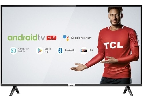 Tv Led Android 43 Tcl 43s6500 Bluetooth, Controle Remoto