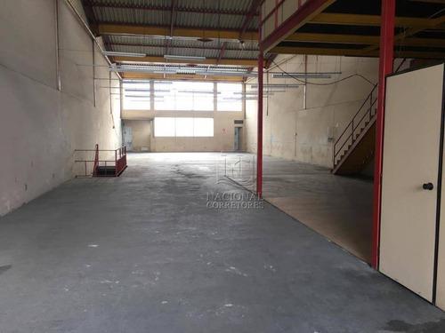 Galpão Para Alugar, 746 M² Por R$ 12.000/mês - Cerâmica - São Caetano Do Sul/sp - Ga0722