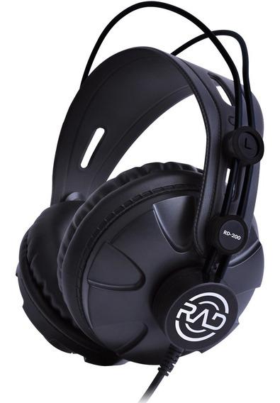 Fone De Ouvido Rad Rd-200 Headphone Gravação - Nota Fiscal