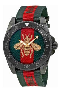 Gucci Dive Abeja Bordado Dial Reloj Para Hombre Ya136216