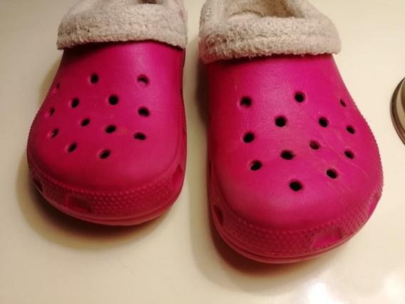 Crocs Con Aplique De Piel Desmontable Y Lavable